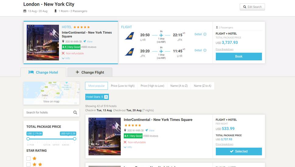 Flight + Hotel