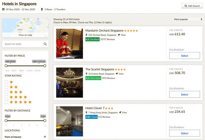 hotel booking engines